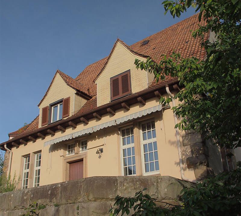 Rückseite des Föhrberg Hauses in Tübingen